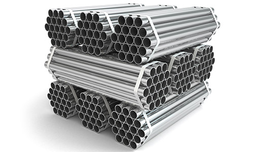 An image of bulk stainless steel pipes at Steelmor