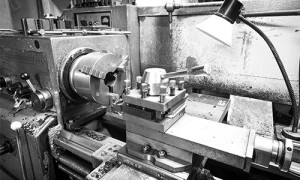 Images of a steel machining lathine