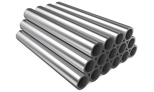An image of stainless steel pipes at Steelmor