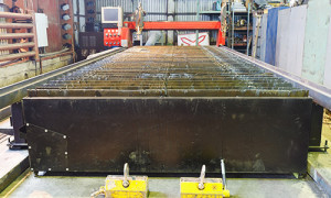 An image of a Plasma Cutting bed