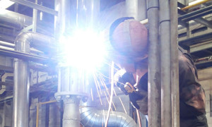 An image of Welding and Fabrication in acition