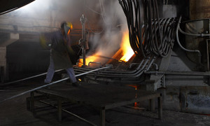An image of Steel Forgings in a forging kiln