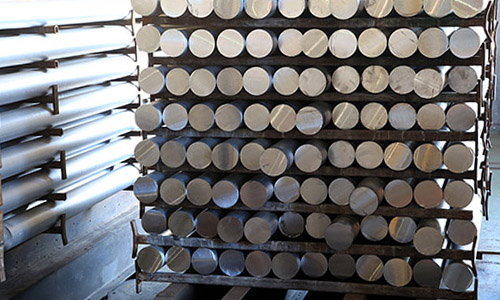Rack of Round Steel Bar